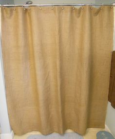 Burlap Shower Curtain / 72  W x 72 H. by CraftyAmour on Etsy, $40.00
