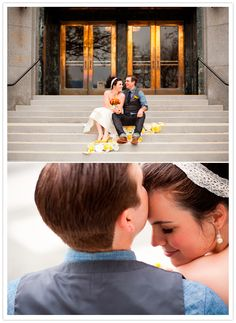 romantic city hall wedding