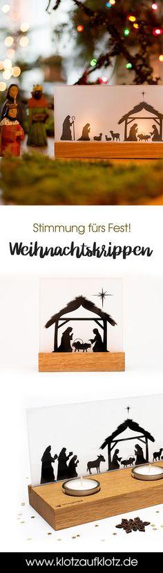 Unsere Weihnachtskrippe Bethlehem besticht durch ein klares, schickes Design. Sie macht sich sowohl unter Deinem Weihnachtsbaum, am Esstisch oder auch am Fenstersims sehr gut! #christmas #deco #weihnachten