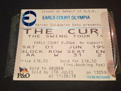 On Saturday 1st June 1996, Lee & I went to watch The Cure at Earl's Court. Little did I know that the author of 'Charlotte Sometimes', on which possibly my favourite Cure song ever was based, had met Robert Smith for the very first time backstage the previous evening! Below are the links to her 2-part blog I discovered whilst working on 'Incomer', detailing her extraordinary experience. A MUST read for any fan of the book &/or this particular song...