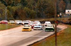 """Starting line in Atlanta in 1983.  From Jones:  """"ONE THING... that car has the Nissan """"Direct Drive"""" gearbox that was incredible and expensive, and very few parts still exist I'm told. BUT, it also has one of only ten straight-cut 1.9 ratio first gears that were special made for Road Atlanta in 1983. Nissan knew cars needed help launching onto the back straight out of turn 7, and it was too slow for second gear, too fast for first Sports Car Racing, Race Cars, Types Of Races, Datsun 510, Straight Cut, Front Row, Nissan, Gears, Atlanta"""