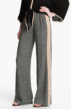 Ella Moss 'Sun Tile' Mix Print Palazzo Pants available at Nordstrom