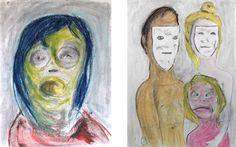 """Así ve Ventura a la familia desde el albergue: """"La familia: Este dibujo… tiene una explicación en que el niño no tiene máscara… pero la tendrá. Los padres: tienen que ser falsos (que no se ofendan si hay padres cerca). En una sociedad falsa, los educadores han de ser falsos. Bienintencionados pero falsos. Que sí, que ya lo sé, que hay padres muy adelantados, que se bañan con sus hijos en la bañera,..."""""""