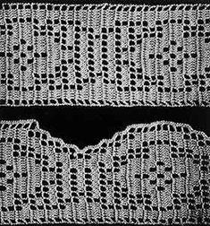 Diamonds on Parade Edging & Insertion Pattern