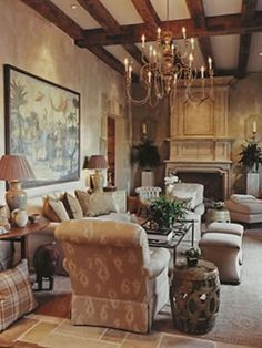 beautiful living area designed by Phoebe Howard