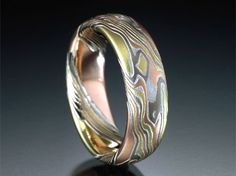 Cool. Mokume Gane Rings and Jewelry from James Binnion Metal Arts. - Multi-Gold and Silver Mokume