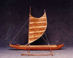 Oh boy, I must have made this model of a Hawaiian fishing canoe some 20 years ago for the Hawaiian Woodshow exhibition.