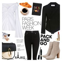 """""""Pack and Go: Paris Fashion Week"""" by ifchic ❤ liked on Polyvore featuring Caroline Constas, AGOLDE, ZAC Zac Posen, Lizzie Fortunato, 10 Crosby Derek Lam, Christian Dior, contestentry, parisfashionweek, Packandgo and ifchic"""