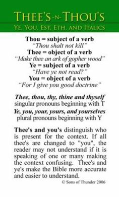 This is a good way to translate the thee's and thou's into todays language without missing any important verses that are deleted from other Bibles