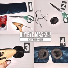 DIY Eye mask for eyelash extensions in four easy steps!