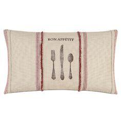 French Country Bon Appétit Lumbar Pillow