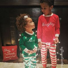 We live it so much when customer share pictures with us!!! How sweet are this brother & sister in our Naughty & Nice Christmas PJ'S Want to be featured on our page??? Make sure you are following us and tag your photo wearing one of our items!!