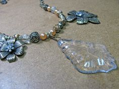 Vintage Look Chandilier Necklace Set by CaliforniaWildPoppy on Etsy