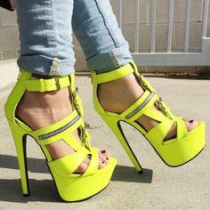 Buckled Strappy Platform High Heels