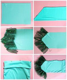 Free Mermaid skirt tutorial. Perfect Mermaid skirt for a costume. Use this Mermaid skirt pattern to create your own DIY Mermaid fin.