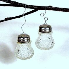 Crystal Ornaments Made From Vintage Salt Shakers