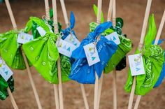 Boy's Camping Birthday Party Favors