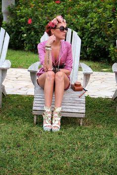 The wardrobe of Ms. B: Resort life