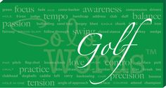 Solowords.com - Golf Words Canvas. All golf related words. From technical skills to motivational words. These are great to decorate bedrooms of golfers or fans. It will also look great in a basement or office. Solowords.com has more sports to choose from and you can choose color and add a name.