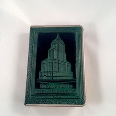 Bank Book Style New York Life Insurance Company Vintage Leather and Brass by VintageSunsetBeach on Etsy