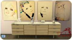 Sims 4 CC's - The Best: Paintings by Tatschu