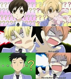"""""""This is the first time I've seen one in real life!"""" Ouran Host Club"""