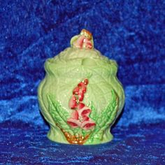 Carlton Ware Foxglove Preserve Pot    A Beautiful Carlton Ware Foxglove Preserve Pot in fantastic condition. The colours are very vibrant and bright.    Size approximately 10.9cm high x 8.4cm    Excellent condition - no chips, cracks or restoration just some very slight crazing to the underside commensurate with age and usage.    To save on shipping costs for multi purchases convo me a list of your items and destination and I will set up a custom order for you to purchase.   Shop this…