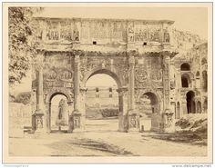 Italie, Roma, Arco Di Constantino Vintage Albumen Print.   Tirage Albuminé   18x24   Circa 1880 - Foto