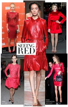 Bold red dresses #fashion #harpersbazaar #reddress #trend