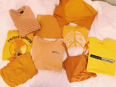 ✰ k a t e ✰ ✰ - Yellow Clothes Teen Fashion, Fashion Outfits, Orange Aesthetic, Vogue, Happy Colors, Mellow Yellow, New Wardrobe, Look Cool, Summer Outfits
