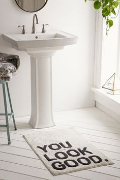 Trending On ShopStyle - Urban Outfitters Plum & Bow You Look Good Bath Mat. The perfect way to wake up in the morning and guarantee the best hair day ever!