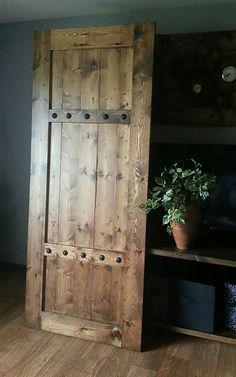 Sliding Barn Door - Barn Door with Hardware - Rustic Door - Farmhouse Style - Barn Doors - Rustic Wood Headboard - Barn Door Package by WoodenNail on Etsy https://www.etsy.com/listing/289897045/sliding-barn-door-barn-door-with