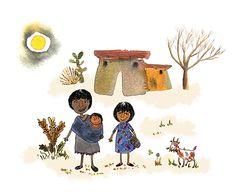 Ilustración para el Informe Anual de Gestión UNICEF Colombia 2015 Innovation, Objects, Snoopy, Ink, Watercolor, Lettering, Drawings, Illustration, Handmade
