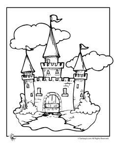 coloriage château