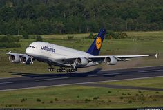 Awesome shot of a Lufthansa A380 Taking off from Cologne. ✈ | Follow civil aviation on AerialTimes. Visit our boards on pinterest.com/aerialtimes or like us on www.facebook.com/aerialtimes