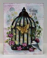 Sylvia Nelson: Sylvia's Stamping Corner: ANOTHER BIRD CAGE CARD....THINKING OF YOU! - 8/7/14