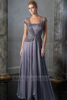A-Line Princess Strapless Chiffon Mother Of The Bride Dress - IZIDRESS.com