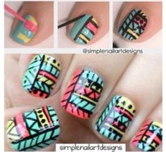 Tribal nail pictorial