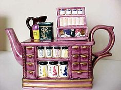 Seymour Mann s High Tea Collection Teapot Designed Like Tea Cabinet Orig Box  94…
