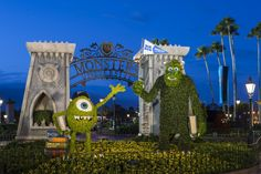 Monsters University Topiary at Disney's Epcot Flower and Garden Festival 2013
