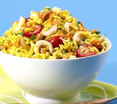 Thrifty Foods - Recipe - Basmati Rice Salad with Shrimp, Curry and Cashews
