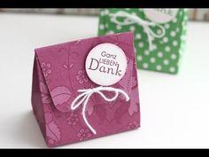 Anleitung: Gastgeschenk / Wedding Favor .. Mini-Geschenktüte | Stampin' Up! - YouTube