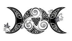 Triple Moon, Goddesses Framed Art Print by aranzazu Wiccan Tattoos, Celtic Tattoos, Symbolic Tattoos, Body Art Tattoos, Sleeve Tattoos, Cool Tattoos, Print Tattoos, Goddess Symbols, Goddess Art