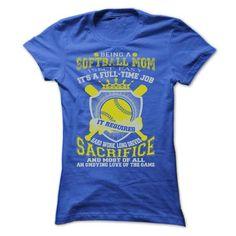 softball mom T Shirts, Hoodies, Sweatshirts. BUY NOW ==► https://www.sunfrog.com/Sports/softball-mom-35106631-Ladies.html?41382