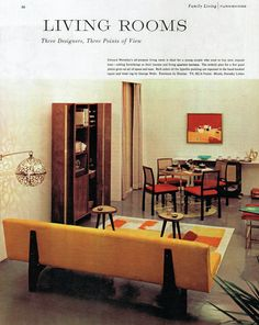 """""""Living Rooms"""" from Collier's magazine, 31-Aug-1956"""
