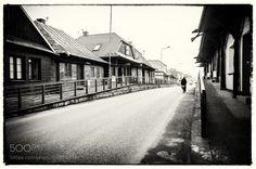 biker - the old part of Zakliczyn - Poland