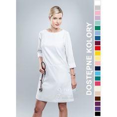 Sukienka Medyczna Hansa 0213 | Odzież damska | Dla lekarzy, farmaceutek i pielęgniarek. | Sklep internetowy Dersa |