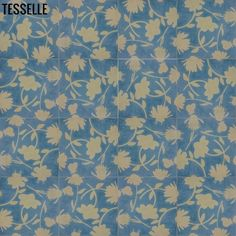 Bouquet Tosscement tiles in color Seabreezeare designed to be laid in a random layout, forming a variety of flowers.  Each tile is hand-pressed. The turquoi