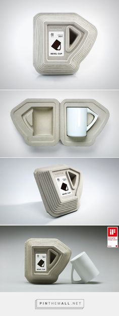Bevel Cup Concept packaging designed by NANOIN design (China) - http://www.packagingoftheworld.com/2016/01/bevel-cup-concept.html