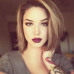 Beautiful makeup On lips #anastasiabeverlyhills SADDEN & VINTAGE on the gorgeous